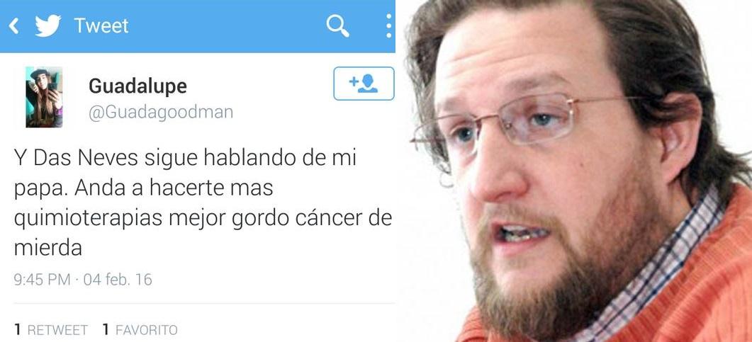 Twitter hija de gremialista Santiago Goodman de la Atech