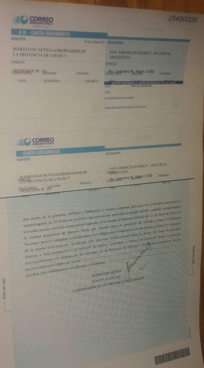 carta documento pae