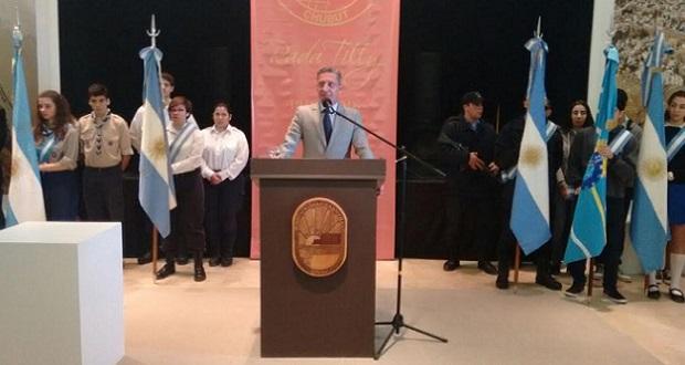 Arcioni presidió este domingo el acto central por el aniversario de Rada Tilly