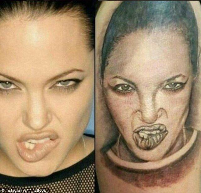 Una monstruosa Angelina Jolie .