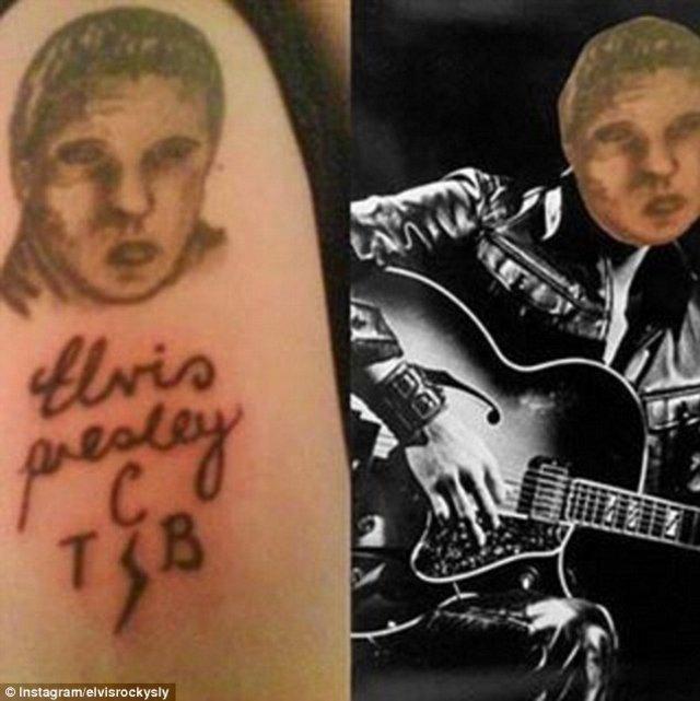 El irreconocible Elvis Presley.